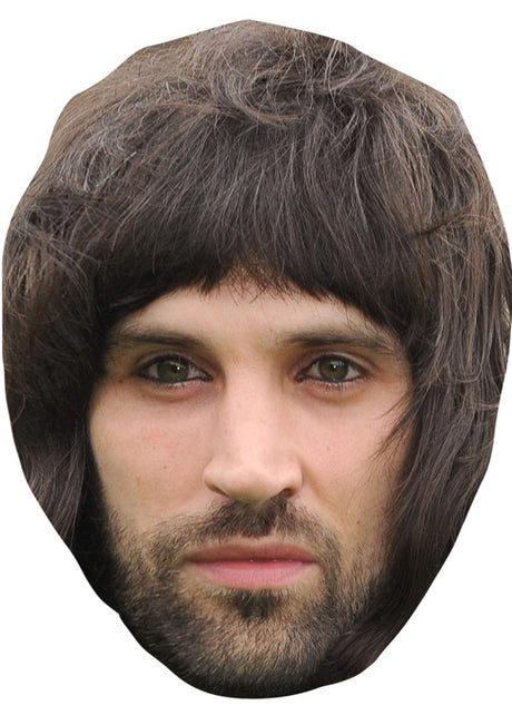SERGIO SERGE PIZZORNO JB - Music Star Fancy Dress Cardboard Celebrity Party Stag Birthday Idea Fancy Dress Face mask