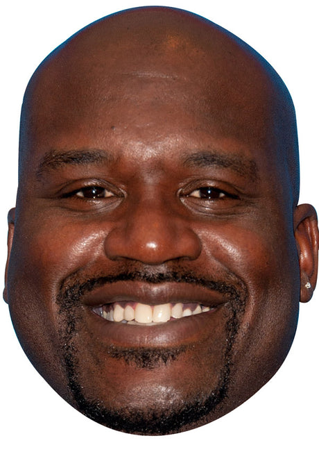 SHAQUILLE O'NEAL JB - Basketball Star Fancy Dress Cardboard Celebrity Party Stag Birthday Idea Fancy Dress Face mask