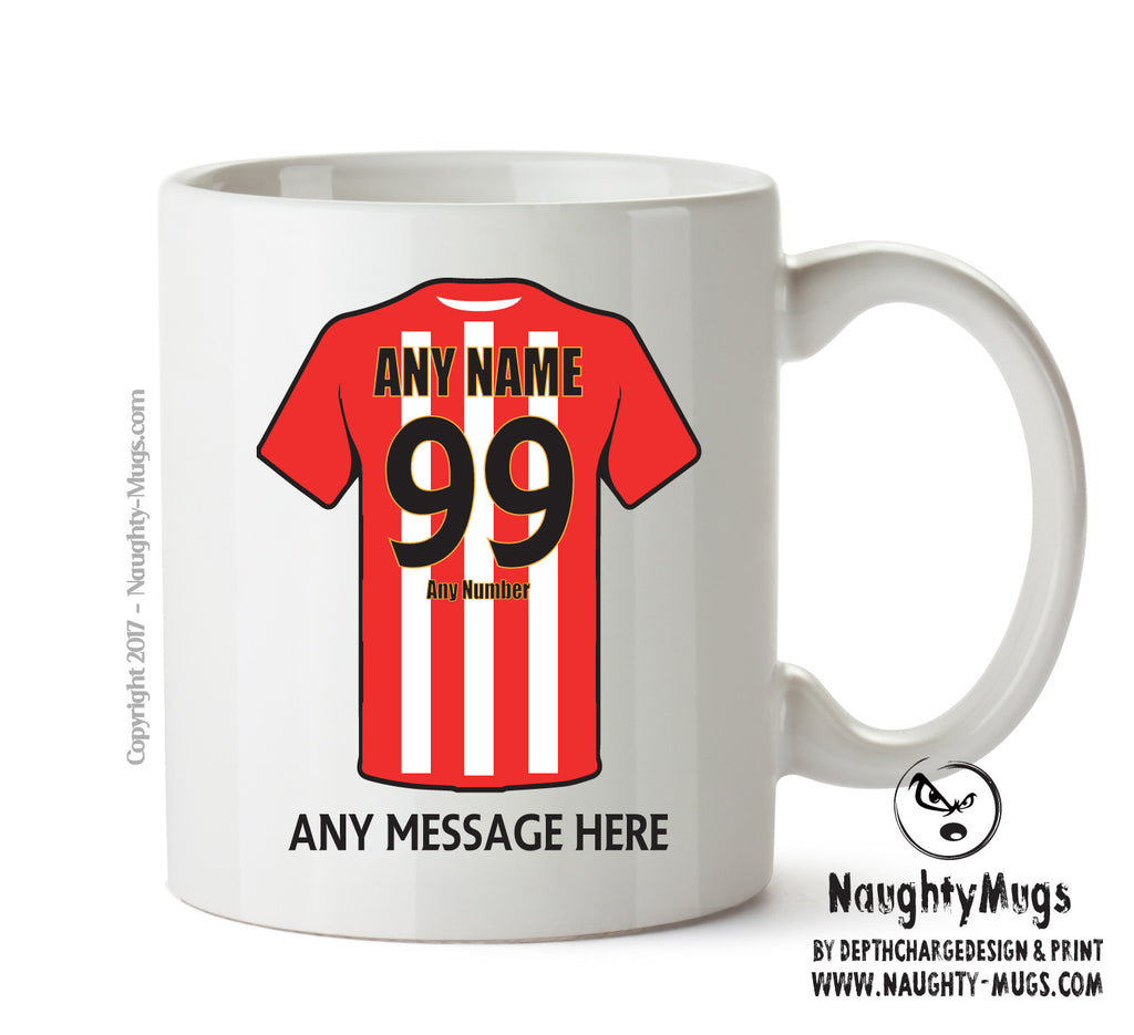 Sheffield United INSPIRED Football Team Mug Personalised Birthday Age And Name