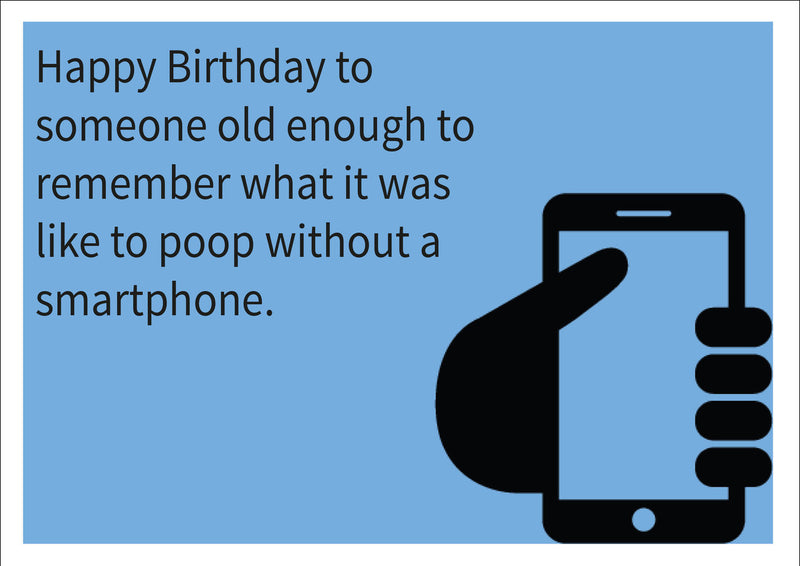 Smartphone INSPIRED Adult Personalised Birthday Card Birthday Card