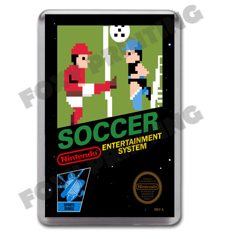 Soccer Retro Nintendo NES Game Inspired Fridge Magnet 526