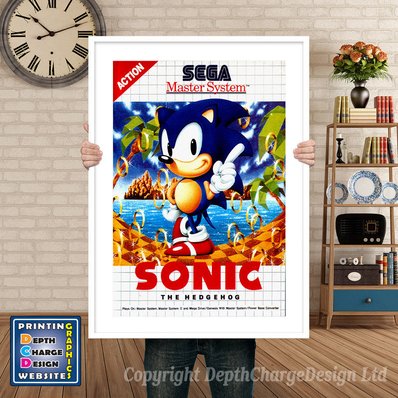 Sonic The Hedgehog (2) Inspired Retro Gaming Poster A4 A3 A2 Or A1