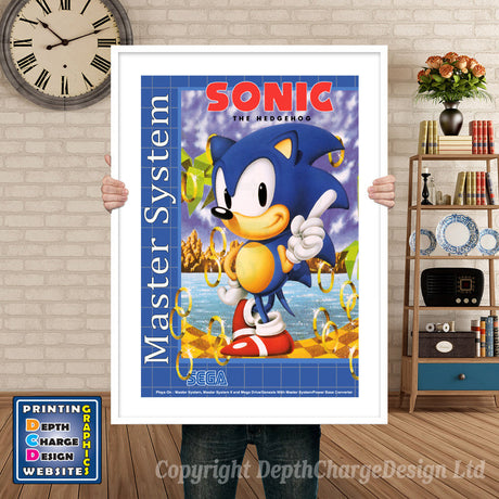 Sonic The Hedgehog Inspired Retro Gaming Poster A4 A3 A2 Or A1
