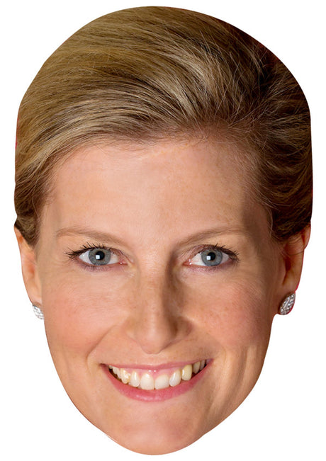 SOPHIE COUNTESS OF WESSEX JB - Royal Fancy Dress Cardboard Celebrity Party mask