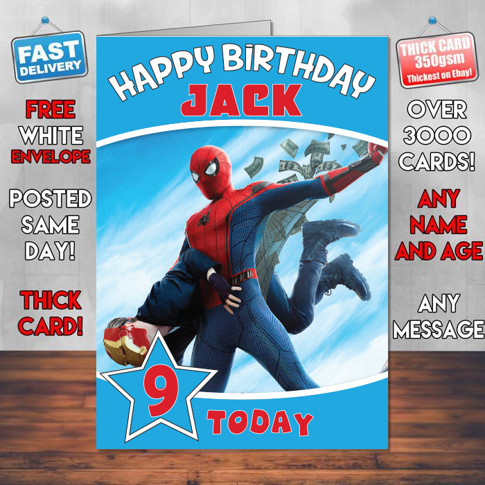Spiderman Homecoming Final Theme Style Personalised Kids Inspired