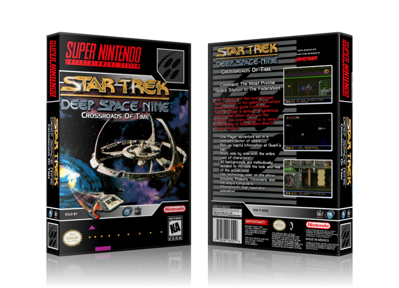 Star Trek Deep Space Nine Replacement Nintendo SNES Game Case Or Cover