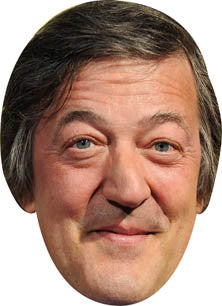 Stephen Fry Celebrity Comedian Face Mask FANCY DRESS BIRTHDAY PARTY FUN STAG HEN