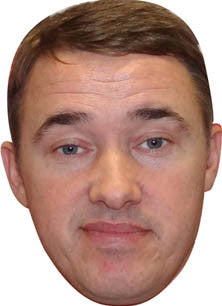 Stephen Hendry SNOOKER Celebrity Face Mask FANCY DRESS HEN BIRTHDAY PARTY FUN STAG DO HEN
