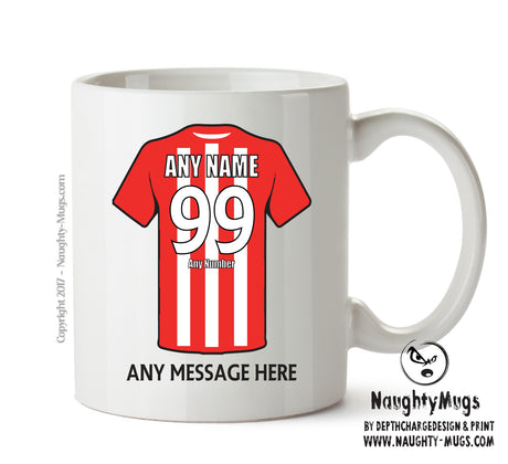 Stoke City Football Team Mug - Personalised Birthday Age and Name