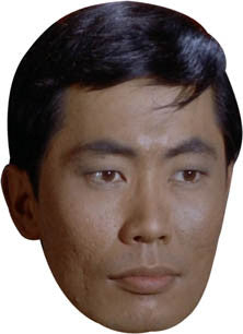 Sulu 2 Star Trek Face Mask FANCY DRESS HEN BIRTHDAY PARTY FUN STAG DO HEN