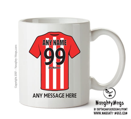 Sunderland Football Team Mug - Personalised Birthday Age and Name