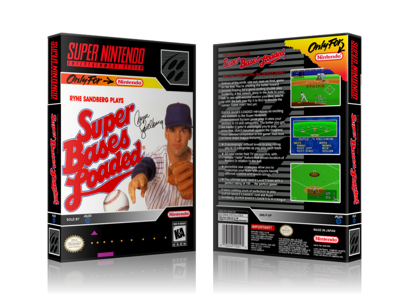 Super Bases Loaded Replacement Nintendo SNES Game Case Or Cover
