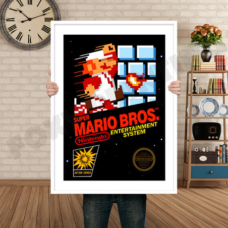 Super Mario Bros Retro GAME INSPIRED THEME Nintendo NES Gaming A4 A3 A2 Or A1 Poster Art 557