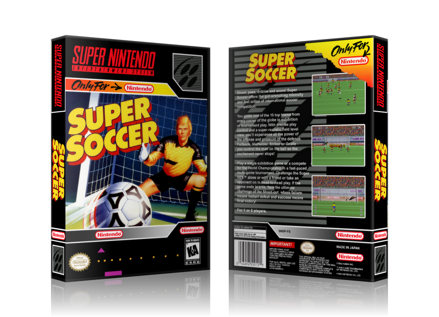 6304b5bede8 Super Soccer Replacement Nintendo SNES Game Case Or Cover