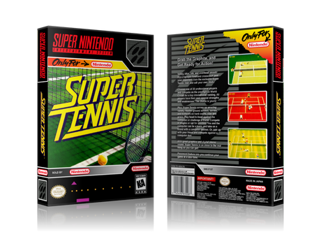 Super Tennis Replacement Nintendo SNES Game Case Or Cover