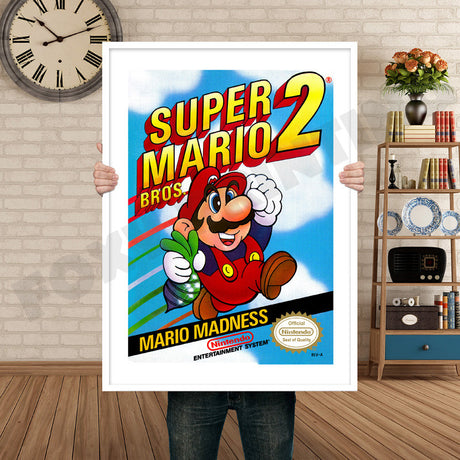 Super Mariobros2 Retro GAME INSPIRED THEME Nintendo NES Gaming A4 A3 A2 Or A1 Poster Art 560