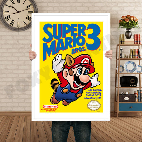 Super Mariobros3 Retro GAME INSPIRED THEME Nintendo NES Gaming A4 A3 A2 Or A1 Poster Art 561