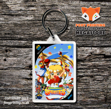 TWINKLE STAR SPRITES NEO GEO CD Game Inspired Retro Gaming Keyring