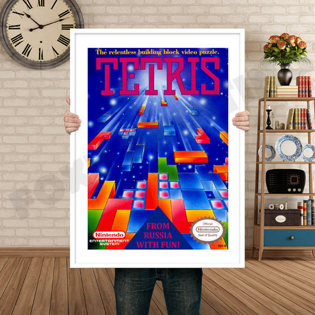 Tetris Retro GAME INSPIRED THEME Nintendo NES Gaming A4 A3 A2 Or A1 Poster Art 592