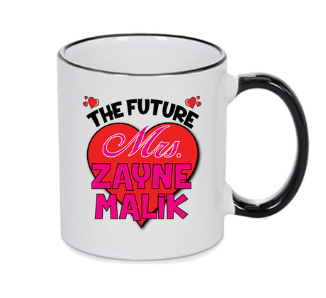 BLACK MUG - The Future Mrs. ZAYNE MALIK MUG - PERFECT GIFT, OFFICE PRESENT - SECRET SANTA - CHRISTMAS OR BIRTHDAY PRESENT - ANY CELEBRITY NAME