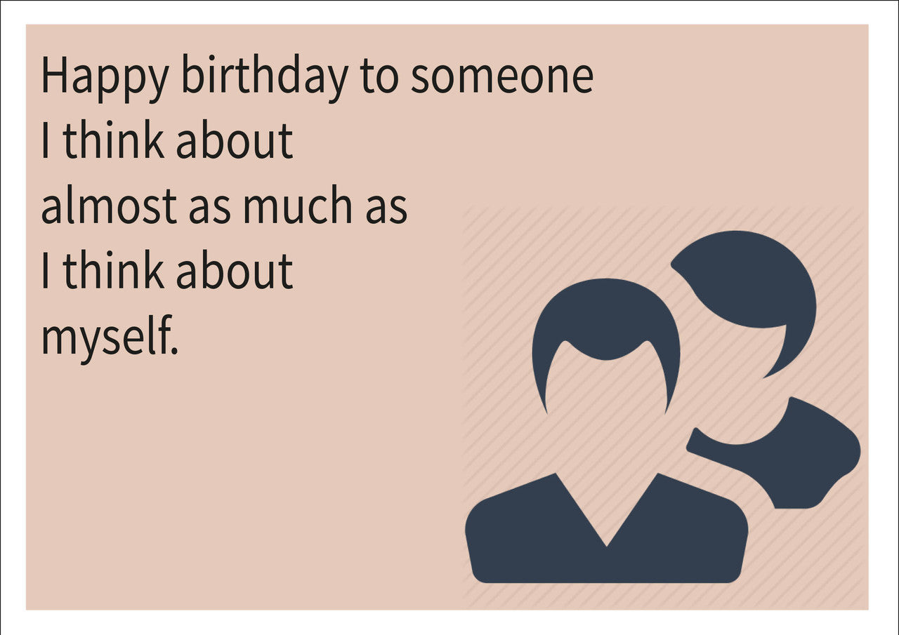 Think about myself inspired adult personalised birthday card think about myself inspired adult personalised birthday card birthday card m4hsunfo