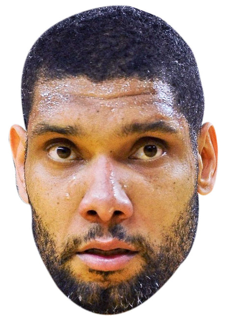 TIM DUNCAN JB - Basketball Star Fancy Dress Cardboard Celebrity Party Stag Birthday Idea Fancy Dress Face mask