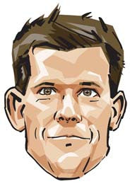 Tim Henman Cartoon  TENNIS Celebrity Face Mask FANCY DRESS HEN BIRTHDAY PARTY FUN STAG DO HEN