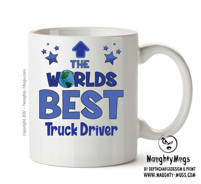 Personalised Funny Occupation Office Mug Worlds Best Truck Driver