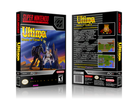 Ultima Runes Of Virtue II Replacement Nintendo SNES Game Case Or Cover