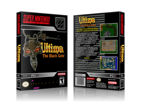 Ultima The Black Gate Replacement Nintendo SNES Game Case Or Cover