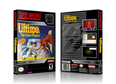 Ultima The False Prophet Replacement Nintendo SNES Game Case Or Cover