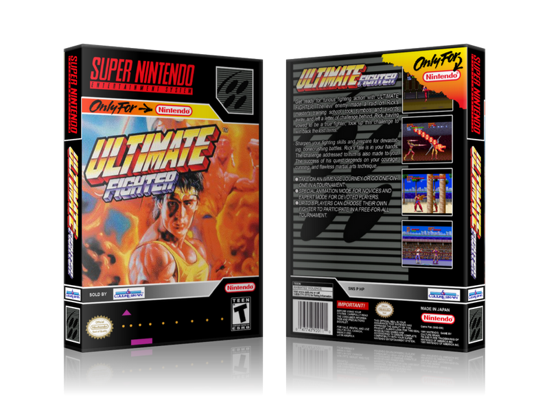 Ultimate Fighter Replacement Nintendo SNES Game Case Or Cover