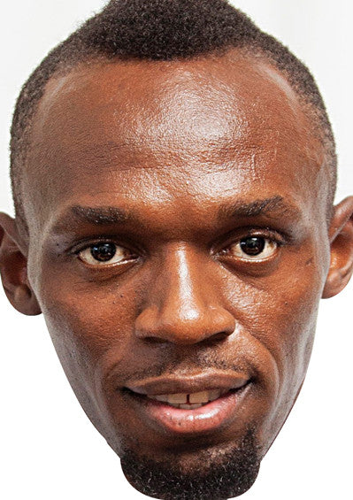 Usain Bolt SPORTS Celebrity Face Mask FANCY DRESS HEN BIRTHDAY PARTY FUN STAG DO HEN