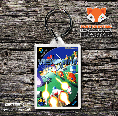 VIEWPOINT NEO GEO CD Game Inspired Retro Gaming Keyring