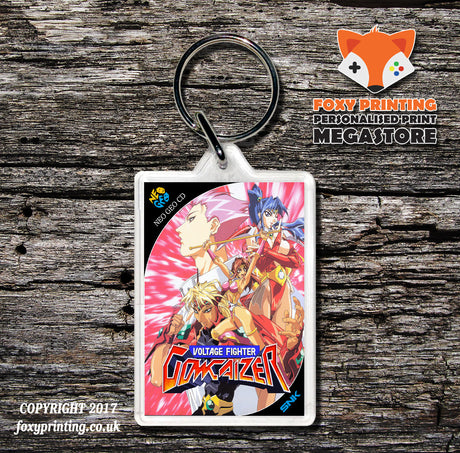 VOLTAGE FIGHTER GOWCAIZER NEO GEO CD Game Inspired Retro Gaming Keyring