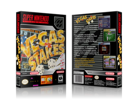 Vegas Stakes Replacement Nintendo SNES Game Case Or Cover