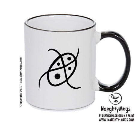 Verdigris Black Handle Alchemy Mug GOTHIC GOTH HORROR STARS HORROSCOPE BLACK MAGIC MUG