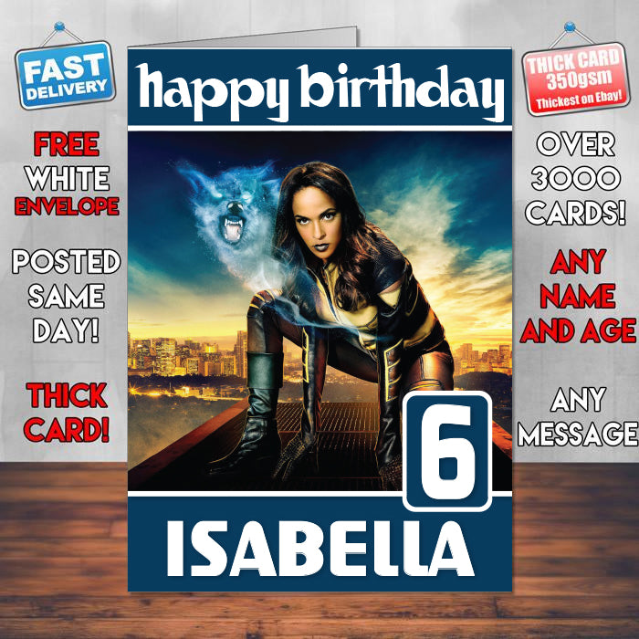 Vixen Legends Of Tomorrow Theme Style Personalised Kids Inspired Movie Birthday Card SA