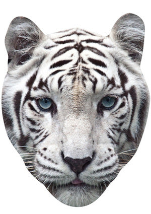 WHITE TIGER MASK JB Actor Movie Tv Celebrity Party Stag Birthday Idea Fancy Dress Face mask