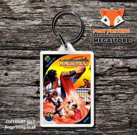 WINDJAMMERS NEO GEO CD Game Inspired Retro Gaming Keyring