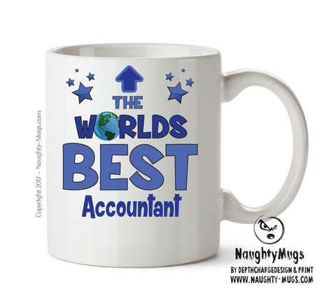 Personalised FUNNY OCCUPATION OFFICE MUG - Worlds Best Accountant