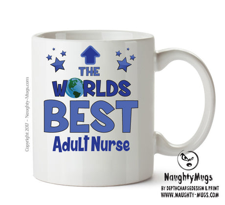 Personalised FUNNY OCCUPATION OFFICE MUG - Worlds Best Adult Nurse