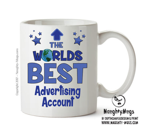Personalised FUNNY OCCUPATION OFFICE MUG - Worlds Best Advertising Account Executive