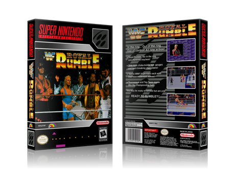 WWF Royal Rumble Replacement Nintendo SNES Game Case Or Cover