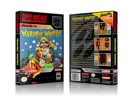 Wario's Woods Replacement Nintendo SNES Game Case Or Cover