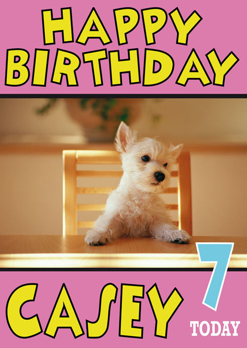 Westie Puppy Cute Birthday Card Foxy Printing Personalised