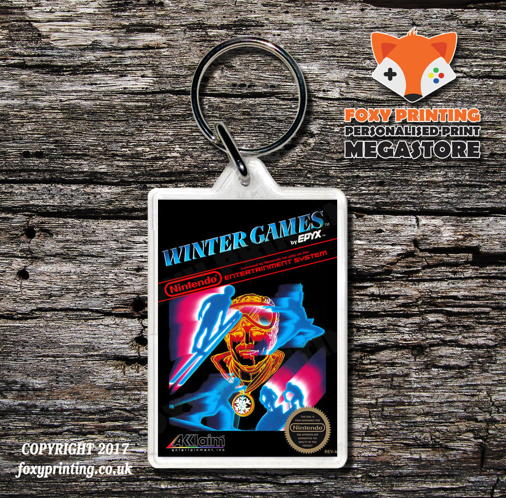 Win Lose Or Draw Retro Nes Game Cover Art Gaming Keyring Foxy