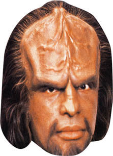 Worf 2 Star Trek Face Mask FANCY DRESS HEN BIRTHDAY PARTY FUN STAG DO HEN