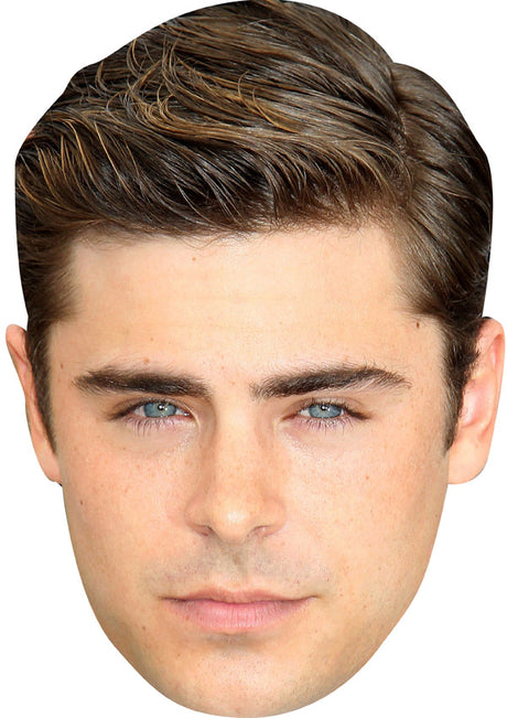 ZAC EFRON JB Actor Movie Tv Celebrity Party Stag Birthday Idea Fancy Dress Face mask