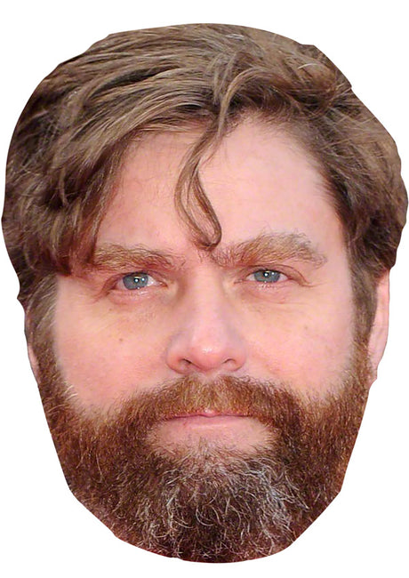 Zach Galifianakis MASK JB Actor Movie Tv Celebrity Party Stag Birthday Idea Fancy Dress Face mask